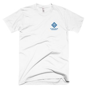 2895b8b661b IOU Logo Embroidered T-Shirt White Blue